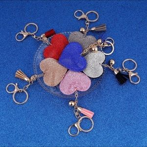 Accessories - 💖COMING SOON💖 NEW Colors! Pavé Heart Key Fob
